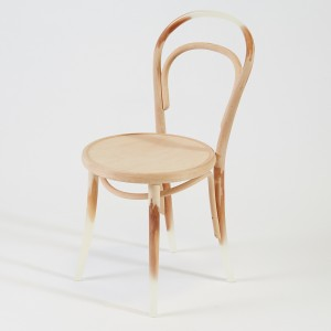 Architect Kelvin Ho's 'Memory' chair is a subtle combination of resin and the original beech.