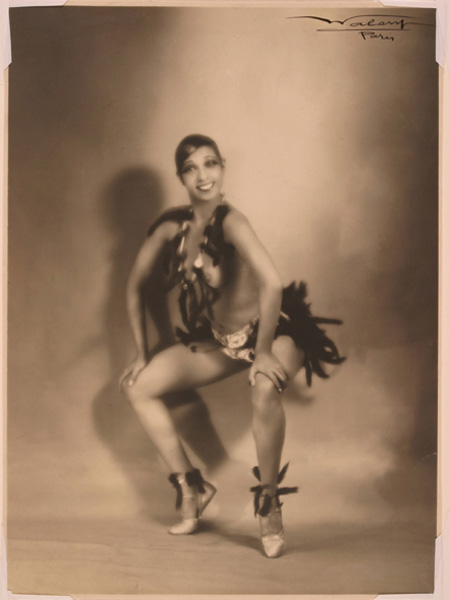 The original image of the dancer Josephine Baker.