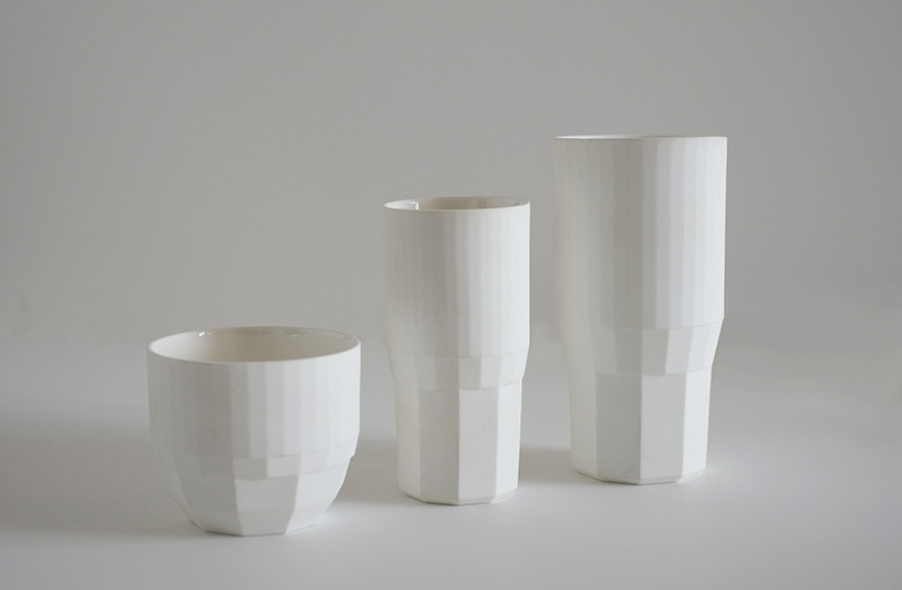 Fort Standard cup and beakers (medium and large). designed in New York.but made in Bone China in England.