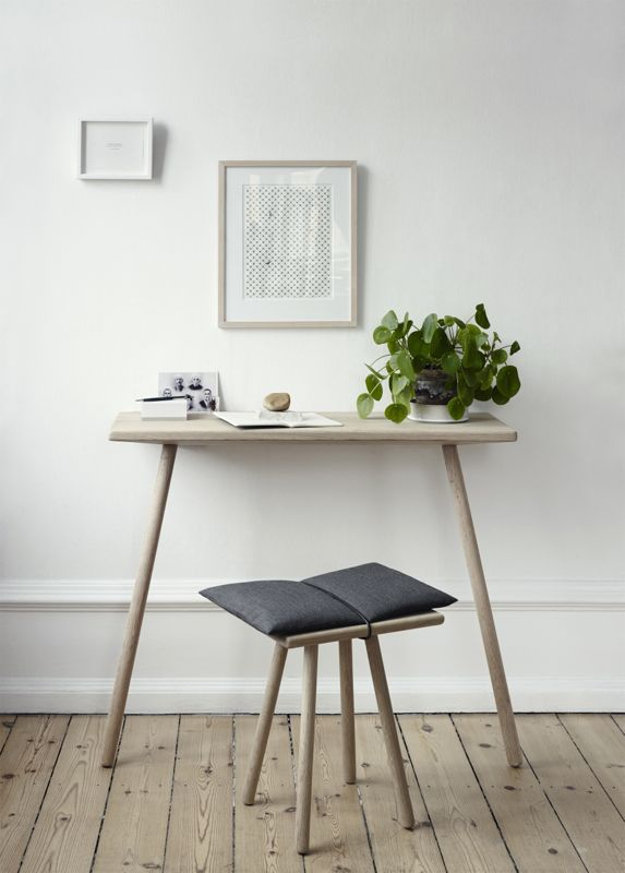 Two pieces from the 'Georg' range from Danish brand Skagerak. The stool has been a favourite for some time.
