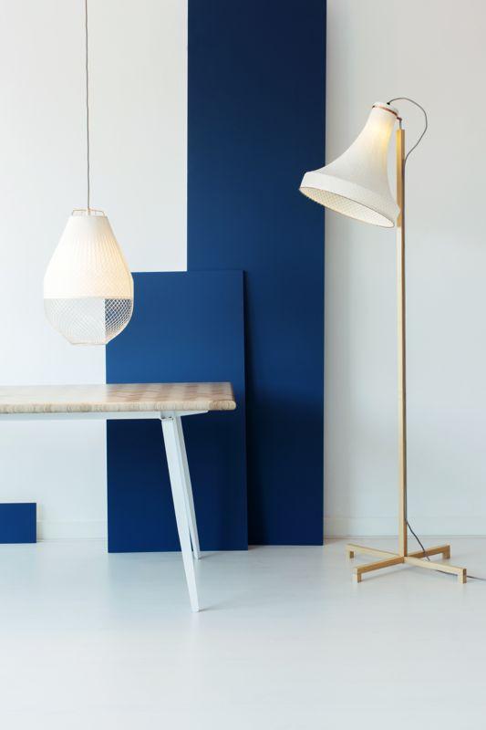 The Meshmatics floor lamp and pendant by Rick Tegelaar