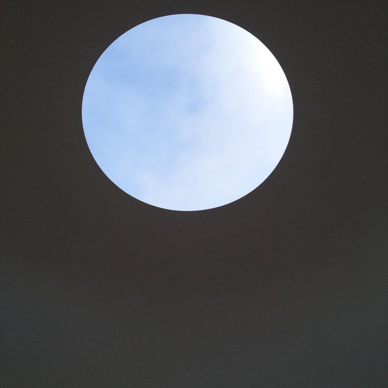 The oculus of the 'Within Without' installation by James Turrell. Photo by Karen McCartney