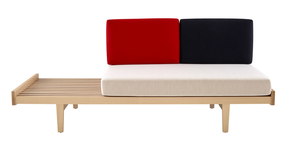 The flow of wonderful Pierre Paulin products just keeps coming. The new Daybed (Model 118) from 1953