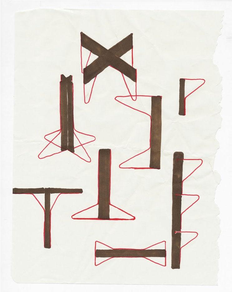 Ronan & Erwan Bouroullec's sketches of the 'Kaari' system for Artek. Photo: Bouroullec Studio.