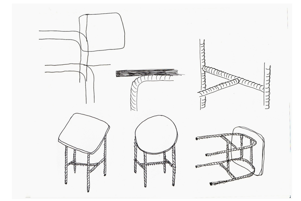 Sketches for Willenz's 'Candy' tables.