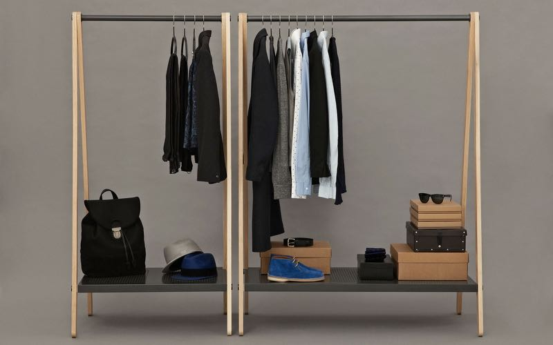 Another earlier adopter - the 'Toj' clothes hanging wardrobe by Simon Legald for   Normann Copenhagen.