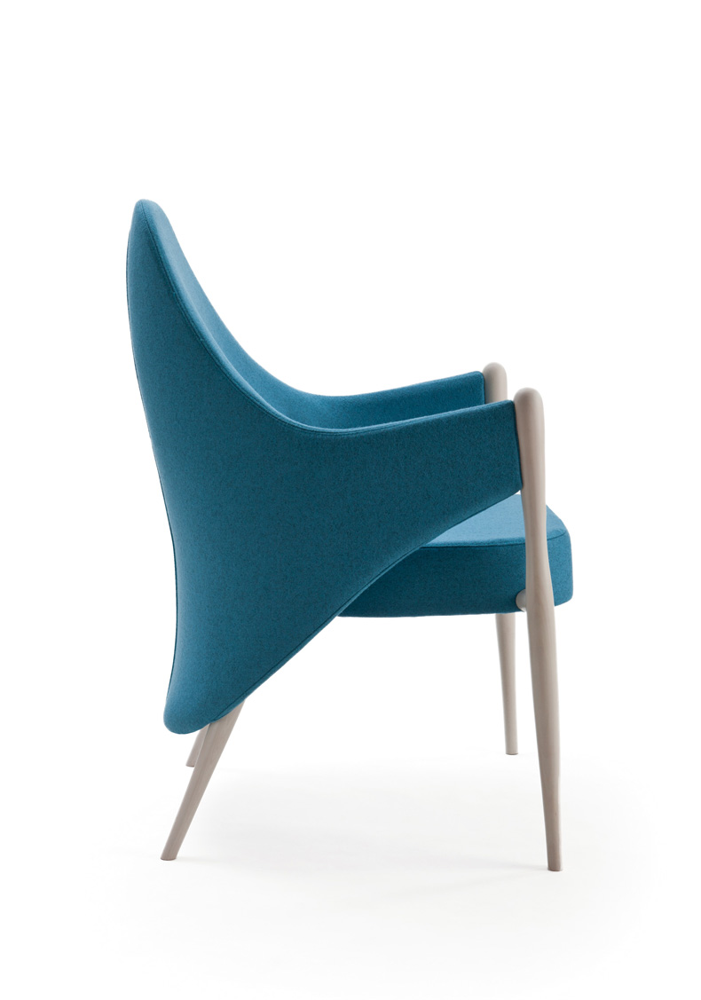 The 'Liv' chair was designed by Ericsson and released in 2014 by Italian manufacturer Piaval.