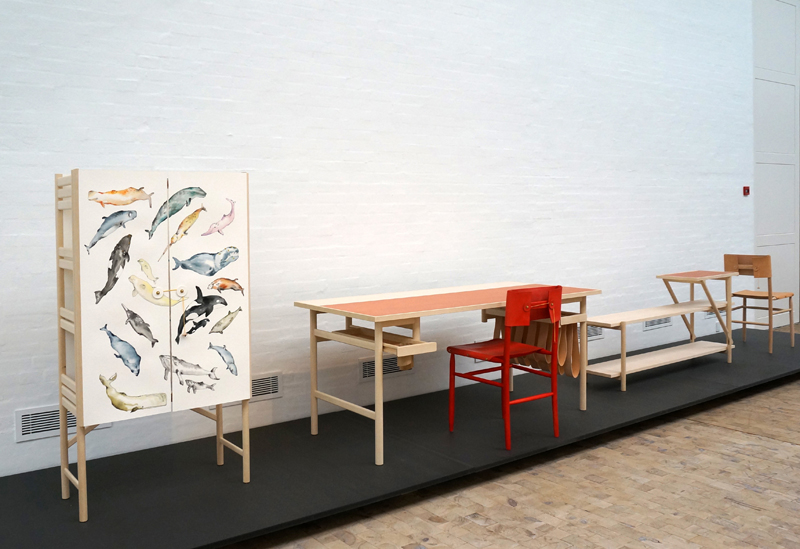 Ericsson's work on show at the Tønder Museum as part of the Hans Wegner : A Nordic Design Icon from Tønder exhibition.