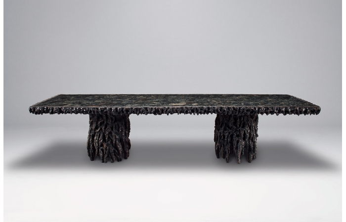 Mattia Bonetti's 'Atlantis' table (2014), made from bronze and marble.
