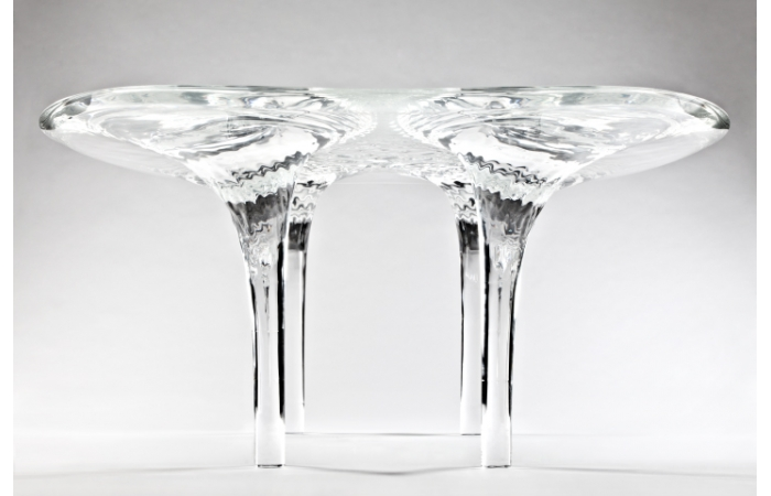 Zaha Hadis's 'Liquid Glacial' table (2013) will be on show at the David Gill stand.