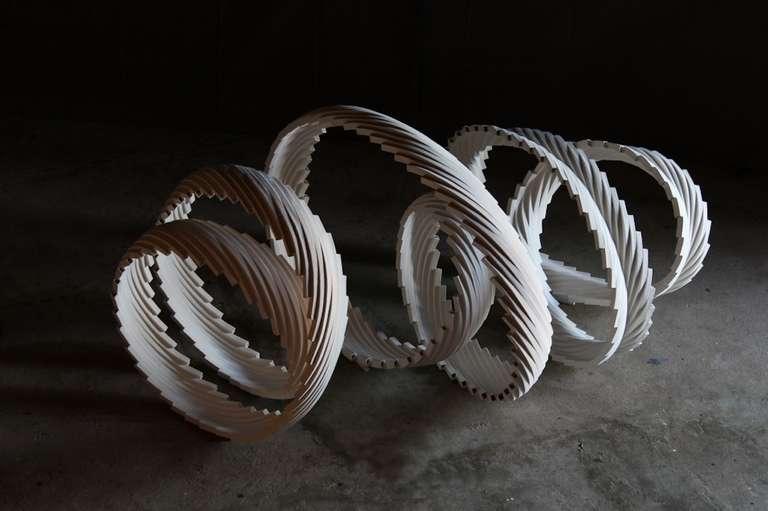 Maarten Stuer's 'Nebuleuse'sculpture in porcelain.