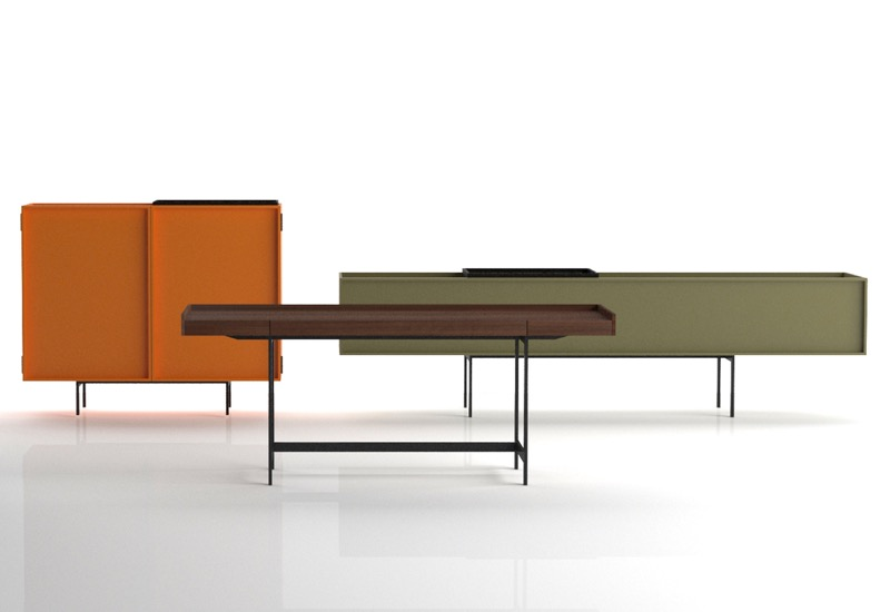 Piero Lissoni must never sleep. Here are his 'Lochness' cabinets for Cappellini.