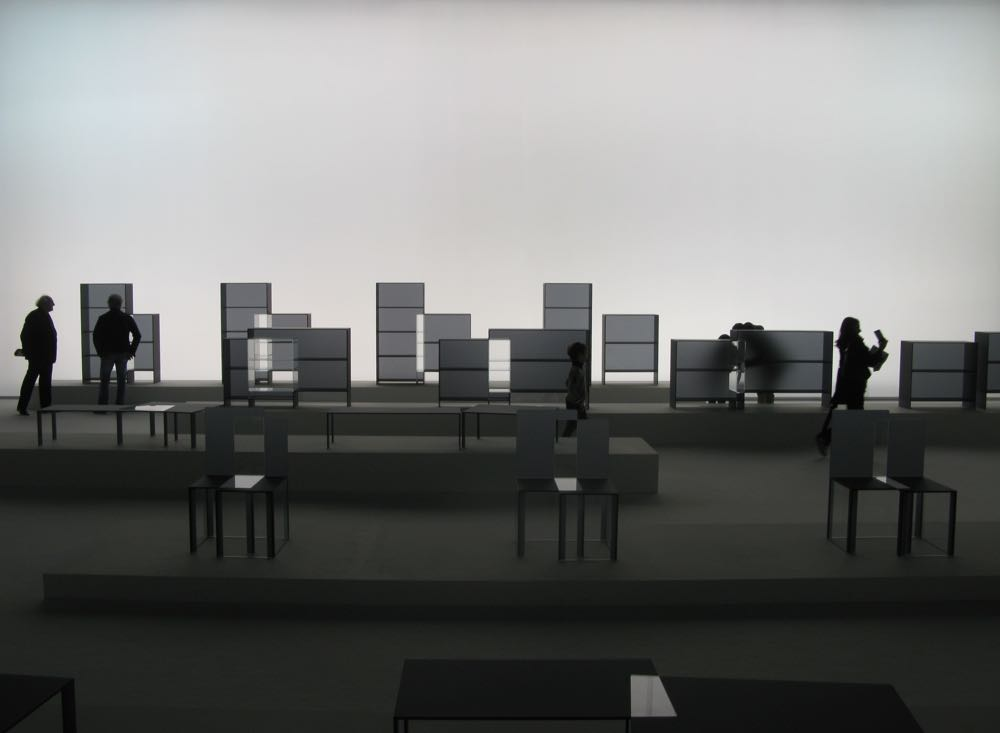 One of the many rooms of the exhibition, Nendo: 2014-2015.