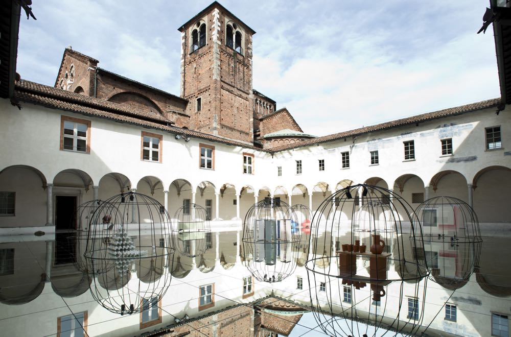 The Mindcraft15 installation was held in the courtyard of Chiostri di San Simpliciano. Photo: Jule Hering