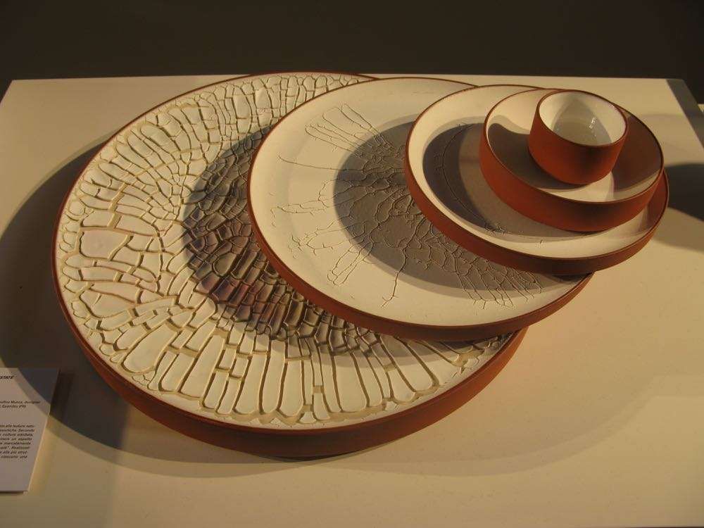 'Paysage Désertiques' - ceramic plates by designer Josephina Munoz and ceramicist Peter Fink.