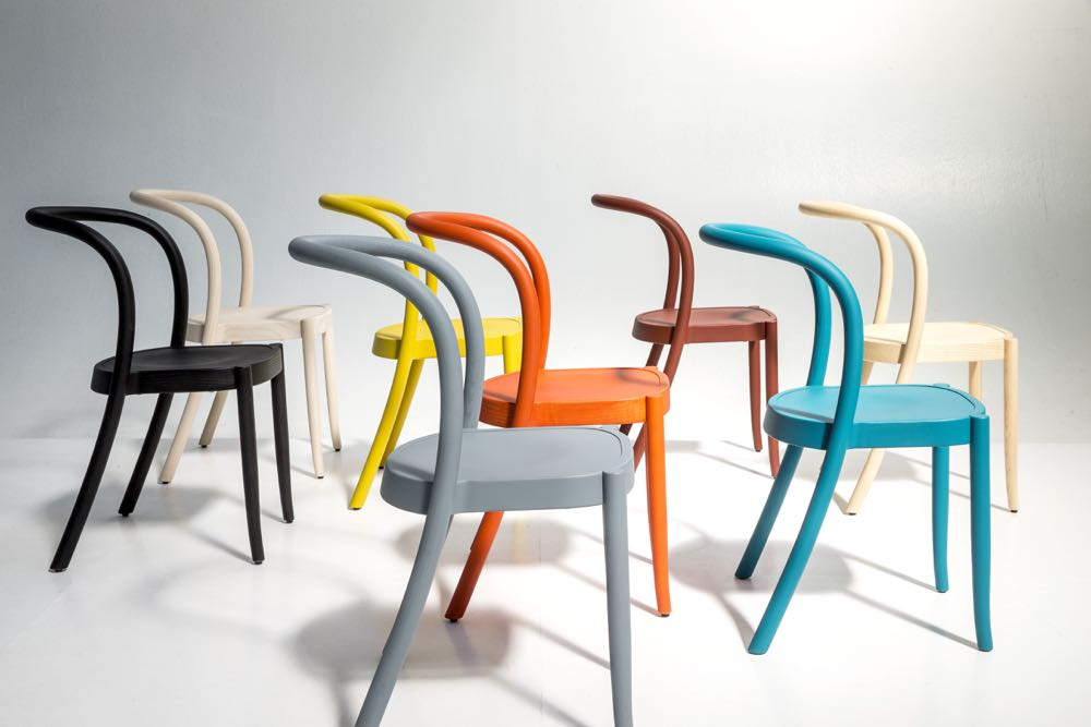 'St Marks' bentwood chairs by  Martino Gamper for  Moroso.  Also manufactured in aluminium with perf seats.