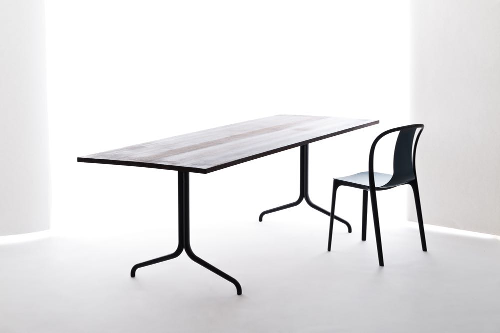 The Bouroullec's were also busy releasing their new 'Belleville' range for  Vitra  (posted on D.d a few weeks ago). This range uses polypropylene for the frames and plywood for the seats (solid wood table tops).