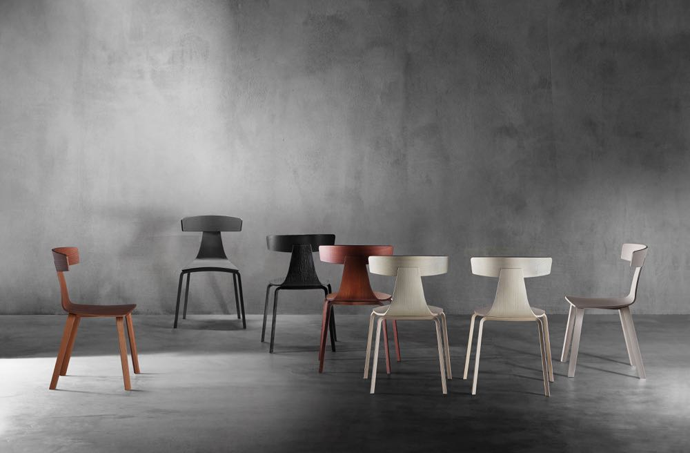 Konstantin Grcic's wonderful 'Remo' chairs for  Plank . All timber or metal leg versions are available.