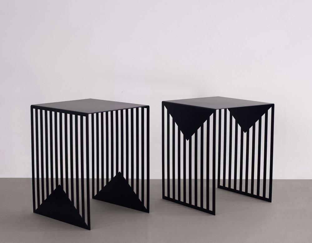 'Zick Zack' side tables by  Olga Bielawska