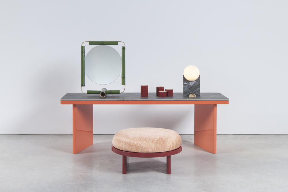 'Osiloi' dressing table by Rui Pereira and Ryosuke Fukusade. Named after the white powder used by Japanese Maiko to transform themselves.