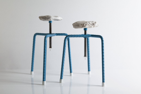 These rebar and sea weathered marble stools are by Greek studio, Greece is for Lovers. 'The Harder they come' are a limited edition design presented during Milan Design Week 2015. Photo: Nikos Alexopoulos.