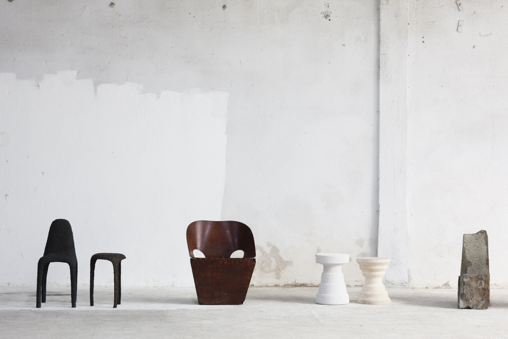 A particularly photogenic corner of Max Lamb's Exercises in Seating exhibition, Photo: Craig Wall.