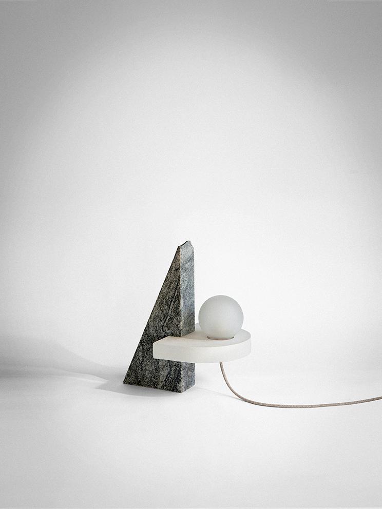 'VI' - A lamp by Studiopepefrom the  Ossimori  exhibition. Photo: Silvia Rivotella.