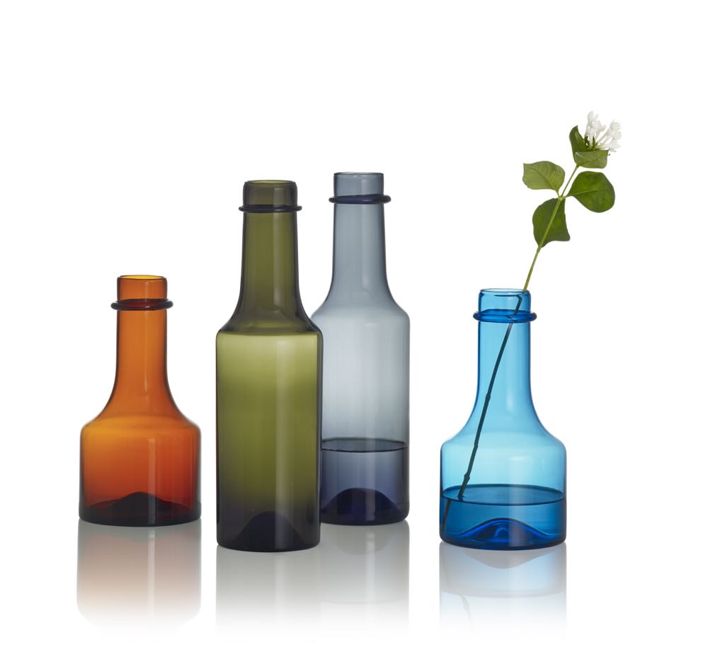 Iittala have recently launched a reissue of a Wirkkala bottle design released in the 1960's. The Anniversary 2015 bottle is limited to 2015 pieces in each colour.