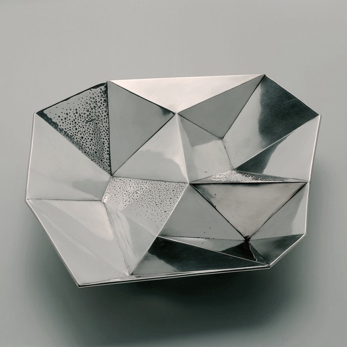 Tapio Wirkkala 'bowl with compartments' for Hopeakeskus.