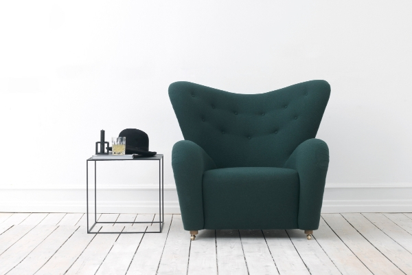 The 'Tired Man' armchair by Flemming Lassen was launched at the Stockholm fair in February.
