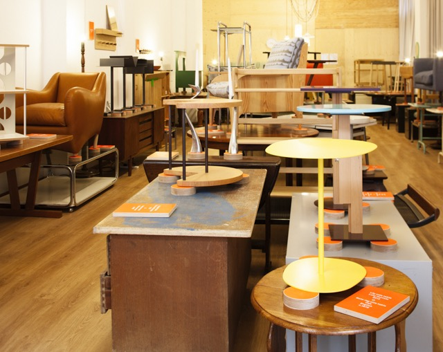 SCP's installation in the San Gregorio district during Salone del Mobile. Junk shop vibe with design classics.