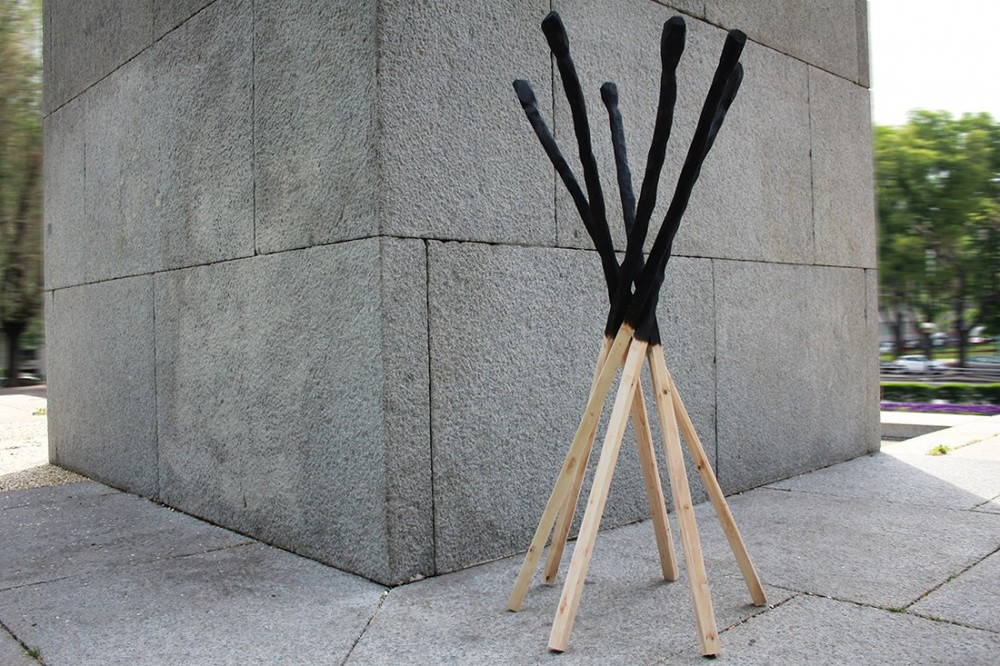 One of Studio BAAG's early pieces - the Match coat stand was released by new Italian brand, Mogg in 2015.