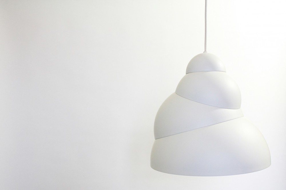 The 'Stasis' pendant lamp was a big hit at Satellite in 2013. Reminiscent of clouds or ice-cream or, according to Galuppini, a pregnant woman.