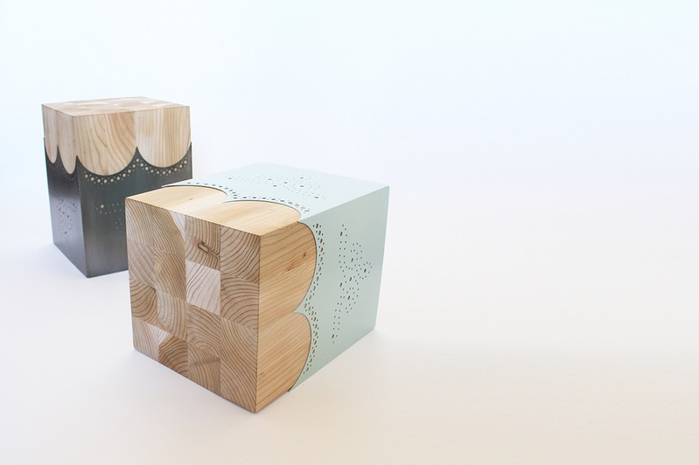 The 'Dandy' stool was also launched at Salone Satellite in 2013. It references the punched pattern of brogue shoes.