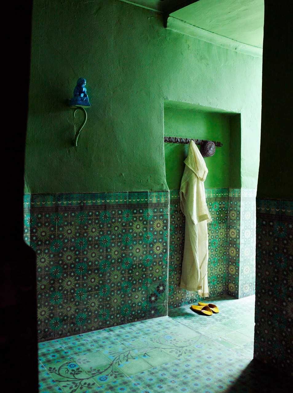 The Interior of Belgian born architect Agnes Emery's house in Marrakesh.