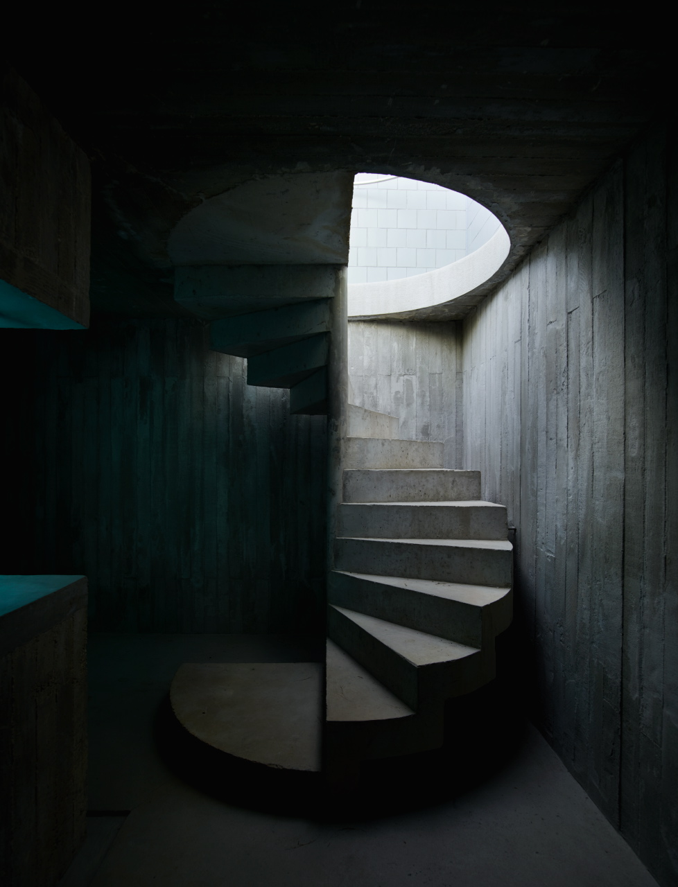 The 'Pezo House' stairwell leading to the pool. Shot for  Superhouse  published by Penguin Lantern.