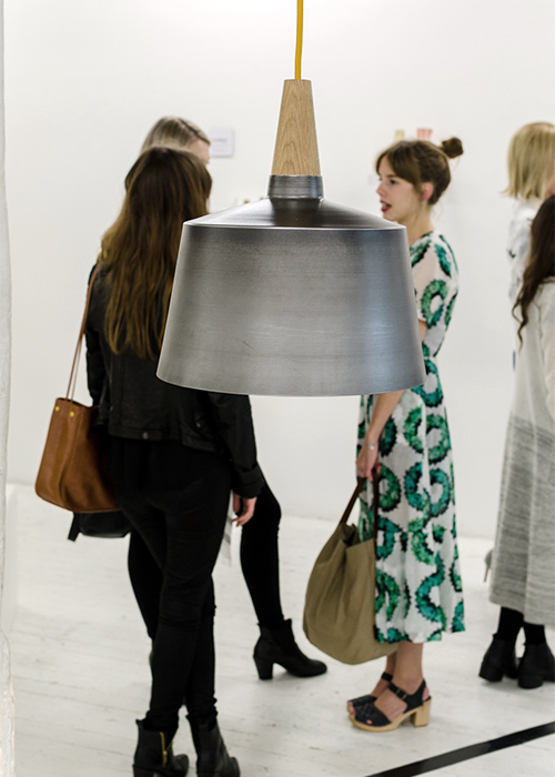 Elliot Gorham's 'Morse' pendant for Noddy Boffin at the launch event for the Temple & Webster Emerging Designer Award.