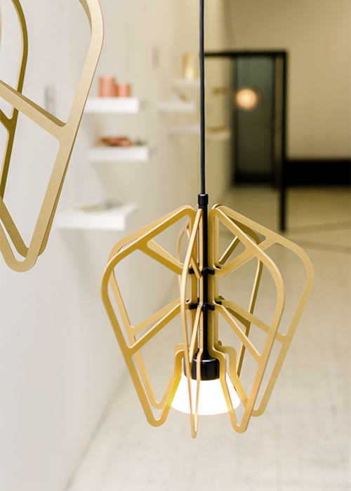 'Exo' lights by Rowan Turnham and Matthew Harding on show at the launch event for the Temple & Webster Emerging Designer Award.