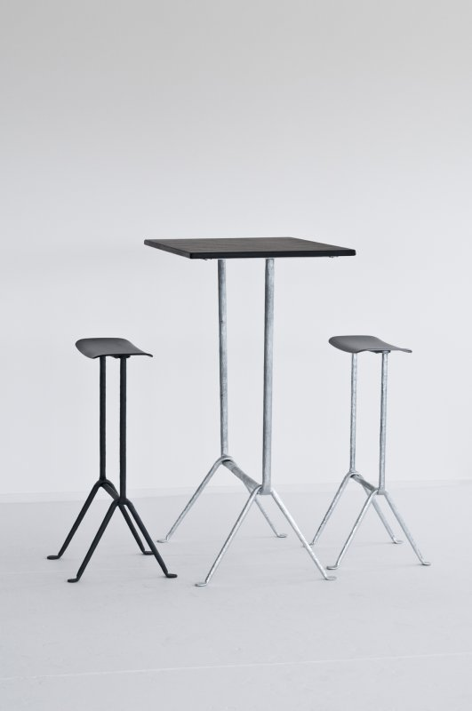 The 'Officina' stool and bar height table by Ronan and Erwan Bouroullec for Magis.