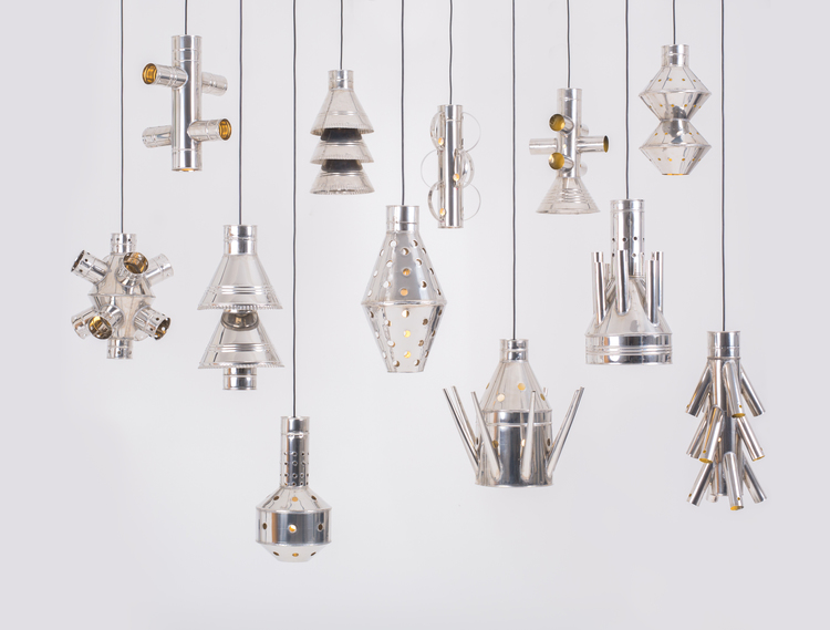 '4Decimi' pendant lights by Vittorio Venezia.  Photo by Angelo Cirrinione & Carolina Martinelli.