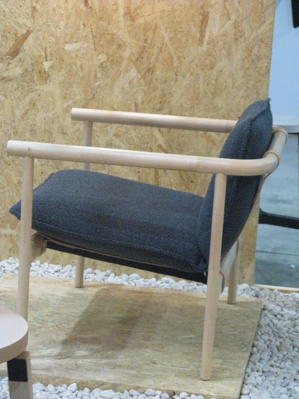 Tom Skeehan's new armchair from the 'Hoshi' collection bridges Japanese and Danish aesthetics.