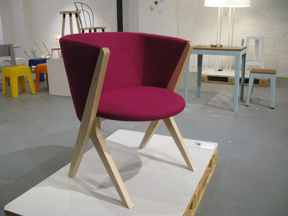 Jon Goulder's 'Plum' chair is a modern take on the perennial tub chair.
