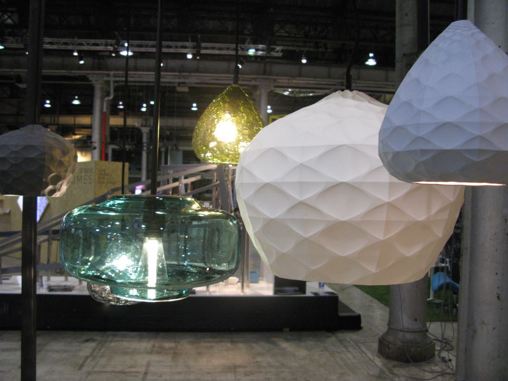 New Oxley Butterworth lighting in glass and slip-cast porcelain on show at Galleria.