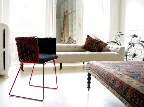 The 'Captain' chair by Gaurav Nanda for Bend. Shown with optional seat and back pads.