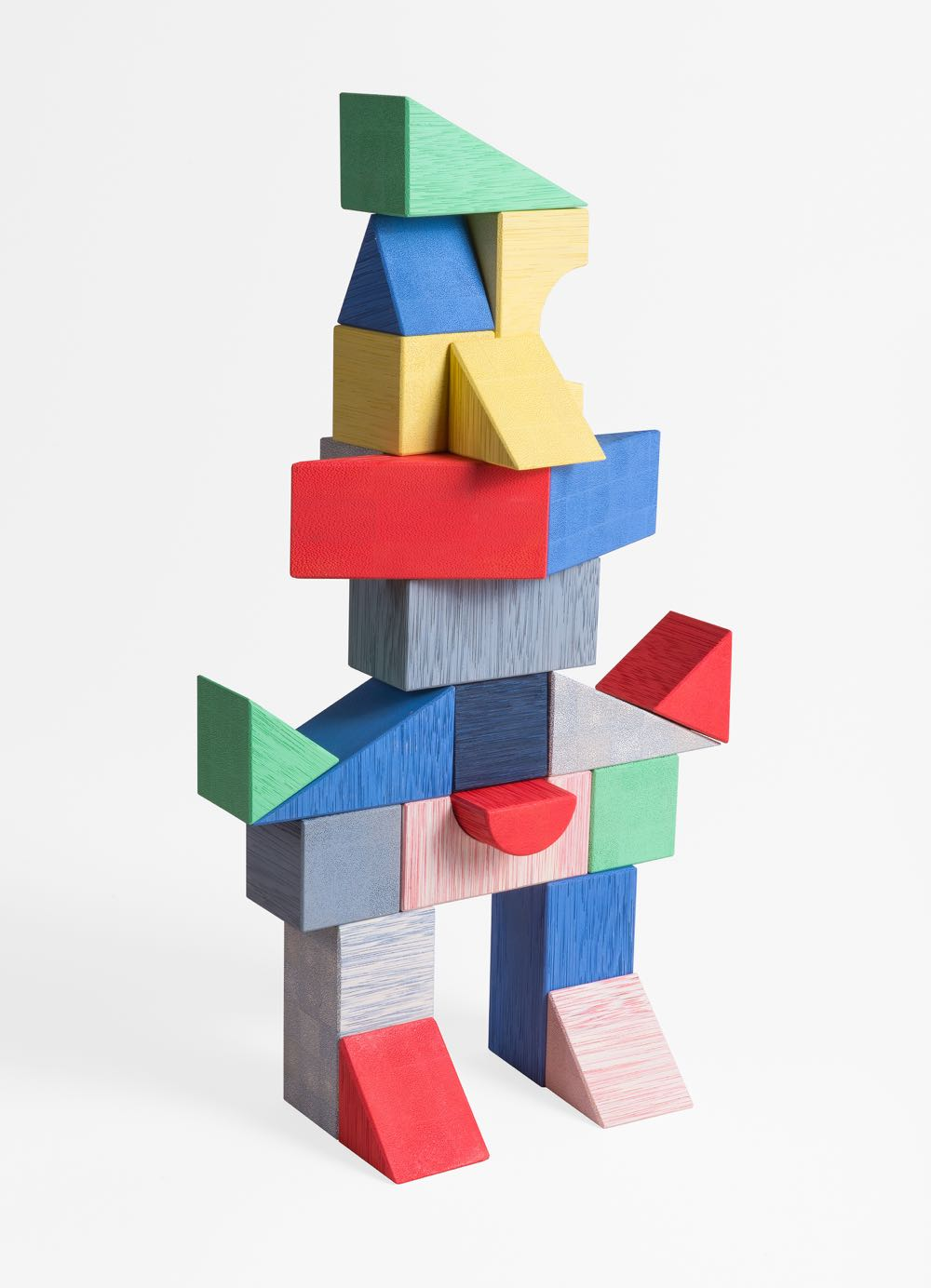 'kc play' by out for space - children's blocks made from karuun showing how the new process allows the material to be coloured all the way through.