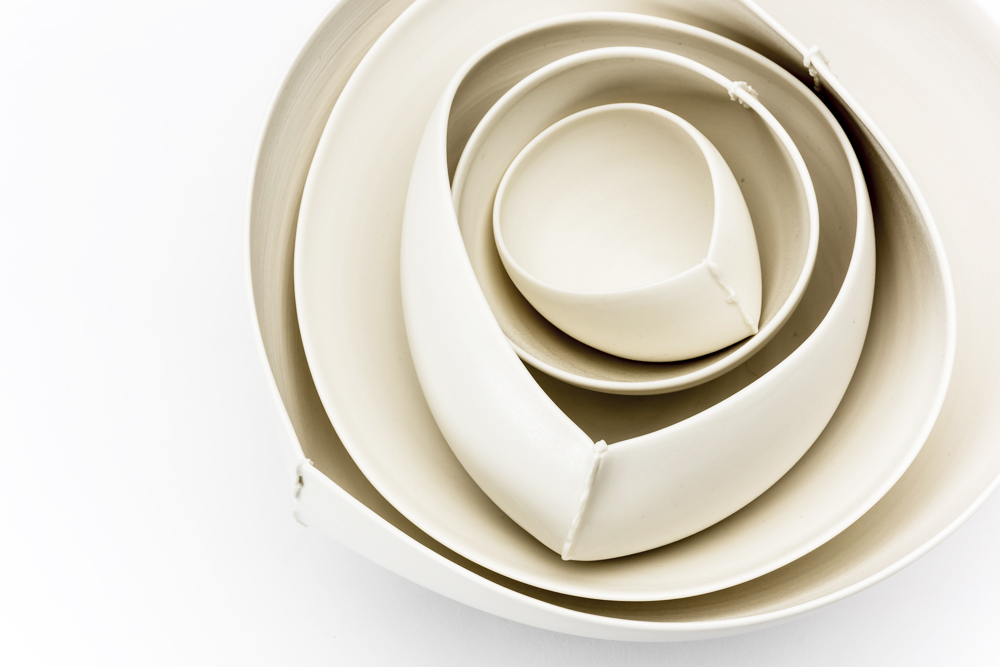 Nestled 'Scar' bowls by Keiko Matsui.