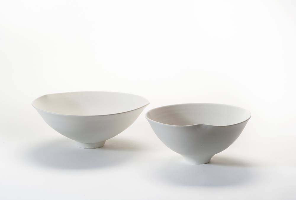 'IS' footed bowls by Keiko Matsui.Photo by Stephen Cummings.