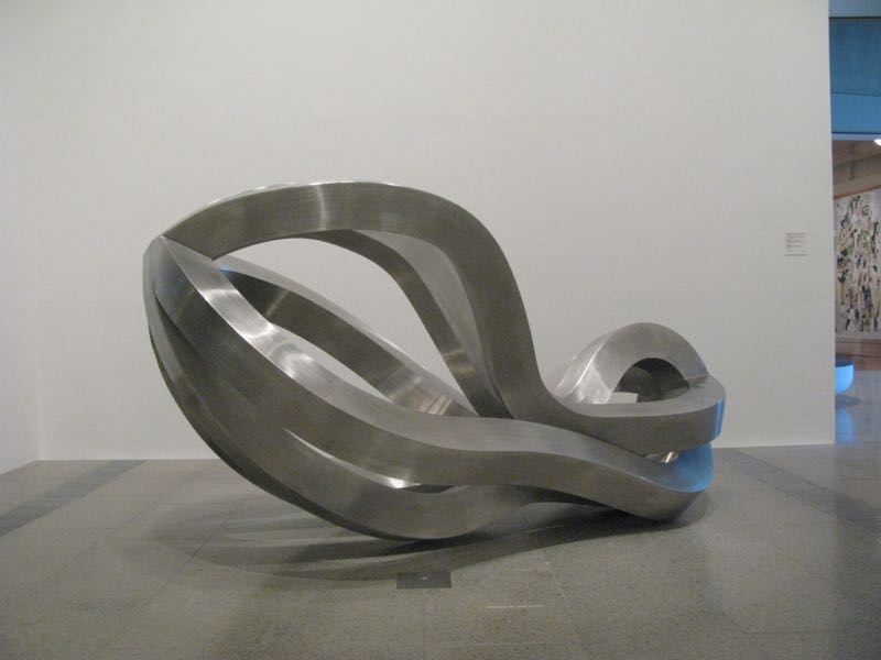 The new sculptural playscape 'Refuge' in stainless steel is the size of a small truck. Photograph David Harrison.