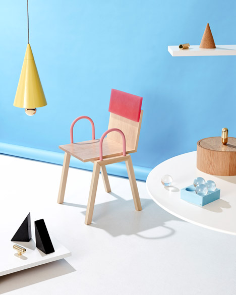 'Mish Mash' chair, 'Cherry on the bottom' pendant for Petite Friture and other objects by Daniel Emma.