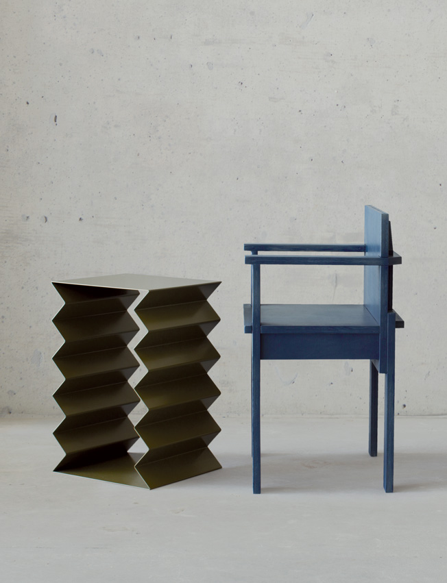 'Zig Zag' table and 'Slab' chair by Page Thirty Three.